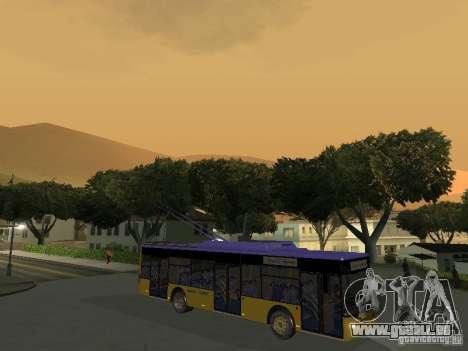 Trolleybus LAZ e-183 für GTA San Andreas linke Ansicht