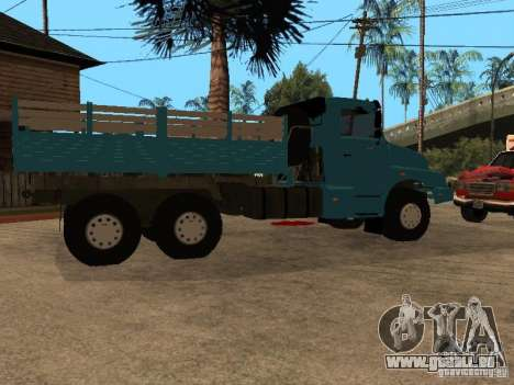 KAMAZ-4355 pour GTA San Andreas sur la vue arrière gauche