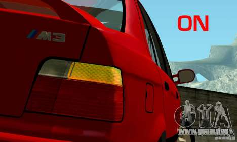 BMW M3 E36 pour GTA San Andreas roue