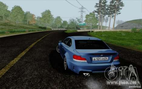 BMW 1M 2011 V3 pour GTA San Andreas laissé vue