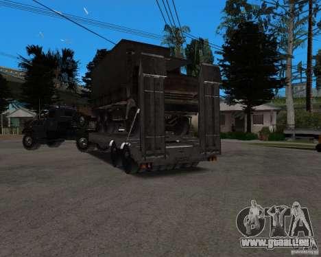 KrAZ 255 + remorque artict2 pour GTA San Andreas vue de côté