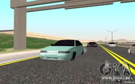 VAZ-2112 leichte Tuning für GTA San Andreas zurück linke Ansicht