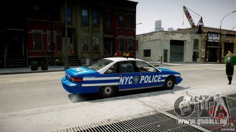 Chevrolet Caprice 1991 NYPD pour GTA 4 est une gauche