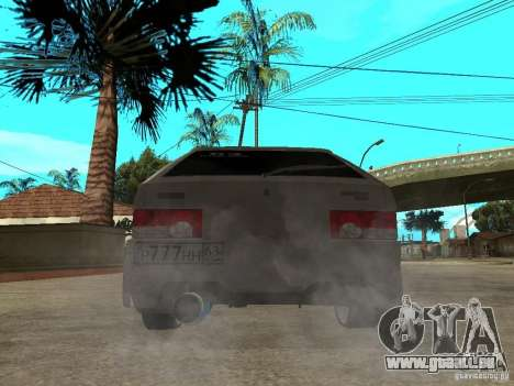 VAZ 2109 Tuning für GTA San Andreas zurück linke Ansicht
