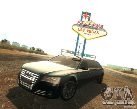Audi A8 2011 Limo für GTA San Andreas