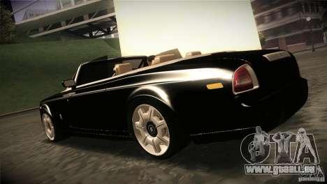 Rolls Royce Phantom Drophead Coupe 2007 V1.0 pour GTA San Andreas sur la vue arrière gauche