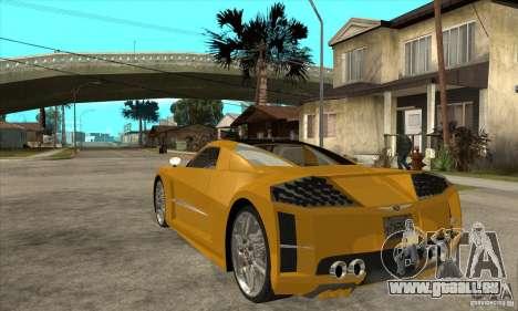 Chrysler ME Four-Twelve Concept für GTA San Andreas zurück linke Ansicht