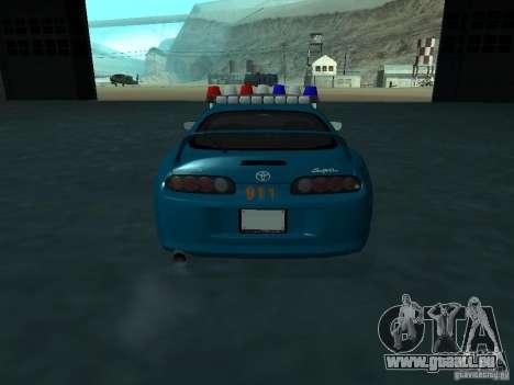 Toyota Supra California State Patrol pour GTA San Andreas vue intérieure