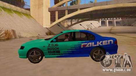 Ford Falcon XR8 2008 Tunable V1.0 pour GTA San Andreas laissé vue