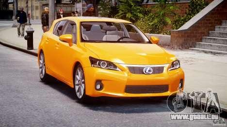 Lexus CT200h 2011 für GTA 4 Rückansicht