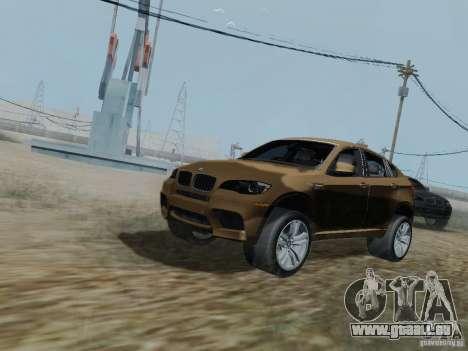 BMW X6M pour GTA San Andreas vue intérieure