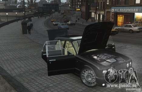 Bentley Arnage T v 2.0 für GTA 4 obere Ansicht