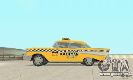 Chevrolet Bel Air 4-door Sedan Taxi 1957 für GTA San Andreas Rückansicht