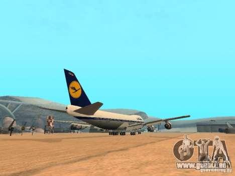 Boeing 747-100 Lufthansa für GTA San Andreas rechten Ansicht