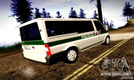 Ford Transit Policija pour GTA San Andreas vue de droite