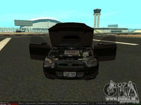 Subaru Impreza WRX pour GTA San Andreas vue de droite