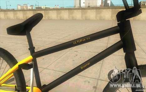 17.5 BMX pour GTA San Andreas vue de droite