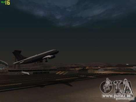 Airbus A319 United Airlines für GTA San Andreas Innenansicht