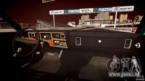 Dodge Aspen v1.1 1979 yellow rear turn signals pour GTA 4 est une vue de dessous