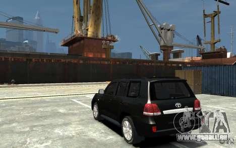 Toyota Land Cruiser 200 für GTA 4 hinten links Ansicht