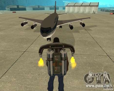 Iliouchine Il-86 pour GTA San Andreas vue arrière