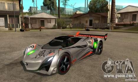 Mazda Furai V2 pour GTA San Andreas laissé vue