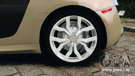 Audi R8 V10 2010 für GTA 4 obere Ansicht