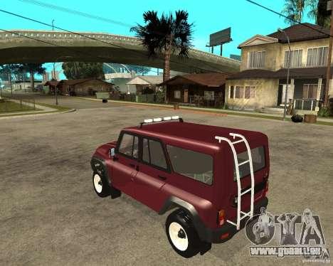 3159-UAZ Hunter (Hunter) pour GTA San Andreas laissé vue