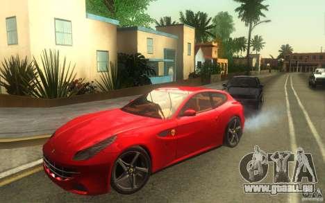 Ferrari FF pour GTA San Andreas sur la vue arrière gauche