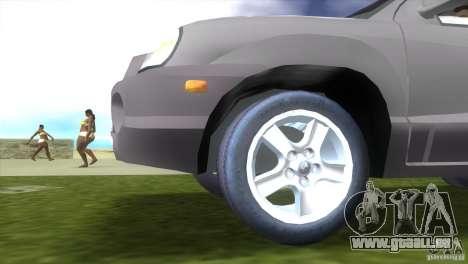 Hyundai Sante Fe pour GTA Vice City sur la vue arrière gauche