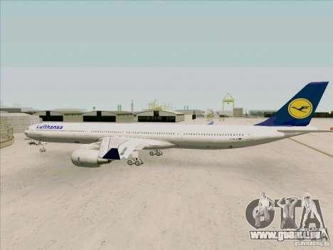 Airbus A-340-600 Lufthansa pour GTA San Andreas vue de droite