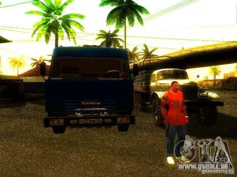 KAMAZ 53215 pour GTA San Andreas vue arrière