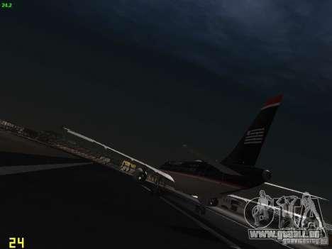 Airbus A319 USAirways pour GTA San Andreas sur la vue arrière gauche