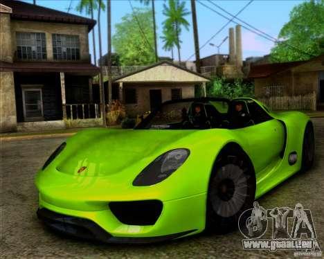 Porsche 918 Spyder Concept Study pour GTA San Andreas