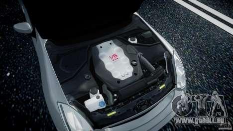 Infiniti G35 Coupe 2003 JDM Tune pour GTA 4 Vue arrière