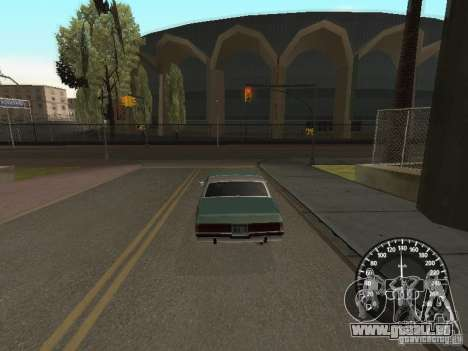 Compteur de vitesse Audi pour GTA San Andreas deuxième écran