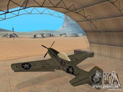 P-51 Mustang pour GTA San Andreas laissé vue