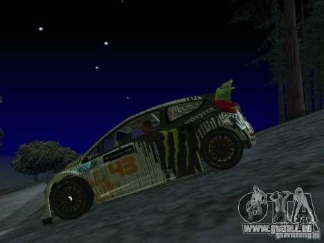 Ford Fiesta Ken Block WRC pour GTA San Andreas vue arrière