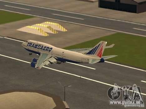 Boeing 747-400 pour GTA San Andreas sur la vue arrière gauche