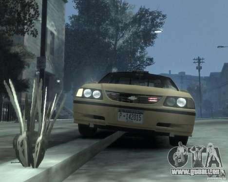 Chevrolet Impala 2003 Taxi pour GTA 4 est un côté