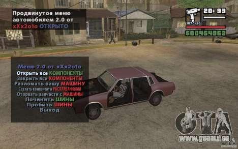 Extreme Car Control v.2.0 pour GTA San Andreas troisième écran
