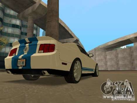 Ford Mustang GT pour GTA San Andreas vue intérieure