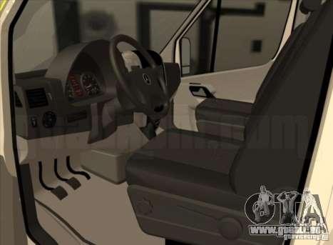 Mercedes Benz Sprinter SAAS für GTA San Andreas zurück linke Ansicht