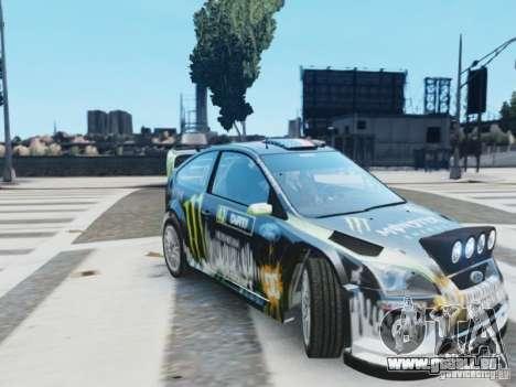 Ford Focus RS WRC pour GTA 4 Vue arrière de la gauche