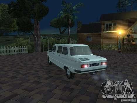 ZAZ 968 m Limousine für GTA San Andreas Unteransicht