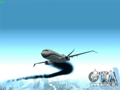 Boeing 737 Iron Man Bussines Jet für GTA San Andreas Seitenansicht