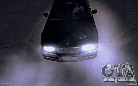 BMW 750i E38 2001 pour GTA San Andreas vue de droite