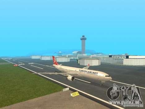 Airbus A330-300 Turkish Airlines pour GTA San Andreas laissé vue