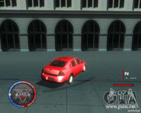 Chevrolet Impala 2008 für GTA San Andreas zurück linke Ansicht