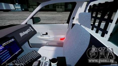 Ford Crown Victoria Massachusetts Police [ELS] pour GTA 4 Vue arrière